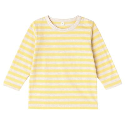 毎日のこども服しましま長袖Tシャツ ベビー90・レモン×ボーダー