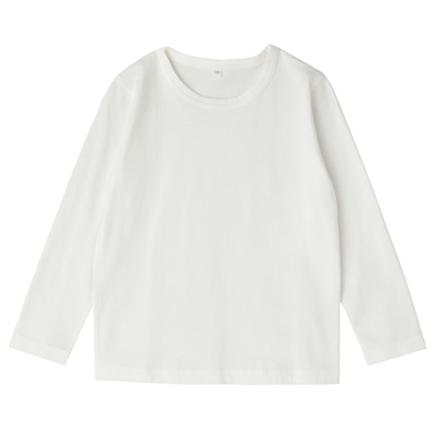 毎日のこども服長袖Tシャツ キッズ110・オフ白