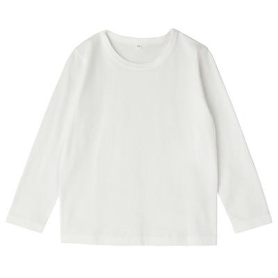 毎日のこども服長袖Tシャツ キッズ130・オフ白
