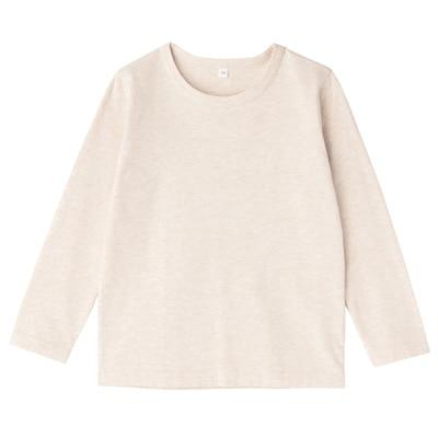 毎日のこども服長袖Tシャツ キッズ140・オートミール