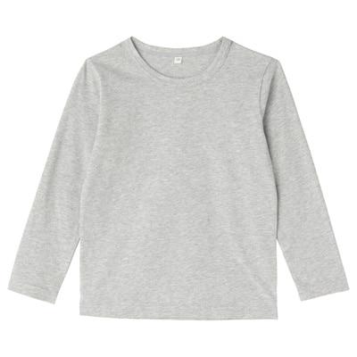 毎日のこども服長袖Tシャツ キッズ110・グレー