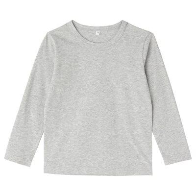 毎日のこども服長袖Tシャツ キッズ120・グレー