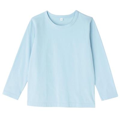 毎日のこども服長袖Tシャツ キッズ120・ベビーブルー