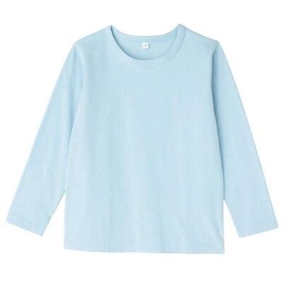 毎日のこども服長袖Tシャツ キッズ130・ベビーブルー
