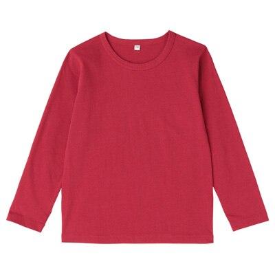 毎日のこども服長袖Tシャツ キッズ110・赤