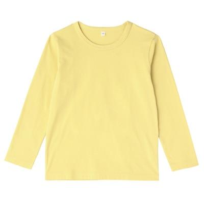 毎日のこども服長袖Tシャツ キッズ130・レモン