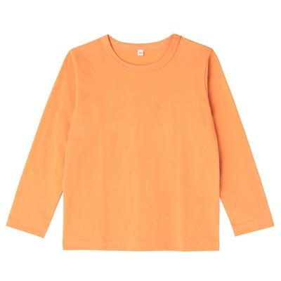 毎日のこども服長袖Tシャツ キッズ110・オレンジ
