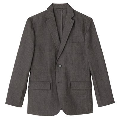 フレンチリネンジャケット 紳士XL・ミディアムグレー