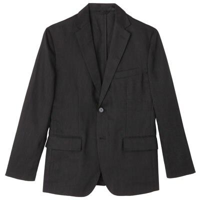 フレンチリネンジャケット 紳士XL・黒