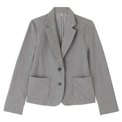 ポンチテーラードジャケット 婦人S・グレー