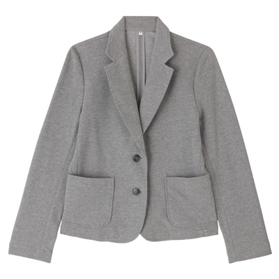 ポンチテーラードジャケット 婦人M・グレー