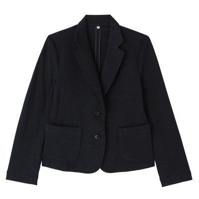 ポンチテーラードジャケット 婦人L・ネイビー