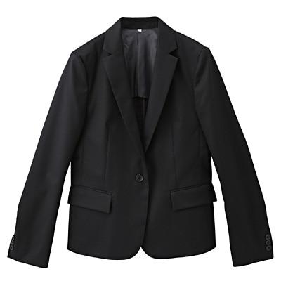 綿混ストレッチジャケット 婦人S・黒