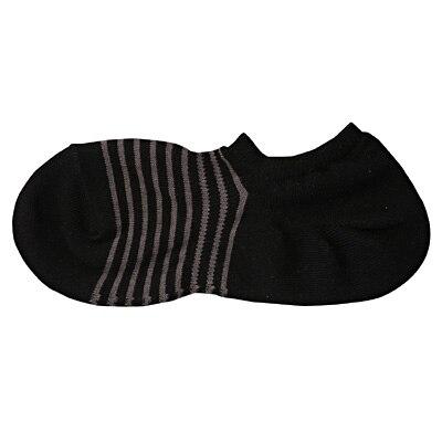 足なり直角 ボーダー柄スニーカーイン(紳士・えらべる) 25~27cm・黒
