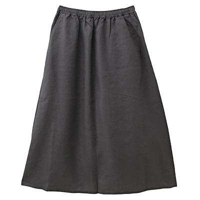 フレンチリネンイージーマキシスカート 婦人S・ダークグレー