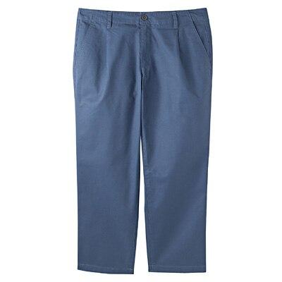 オーガニックコットンクロップドパンツ 婦人61・ブルー