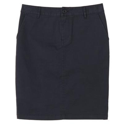 オーガニックコットンストレッチチノタイトスカート 婦人64・ネイビー
