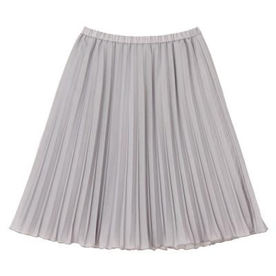 イージープリーツスカート 婦人M・ライトグレー