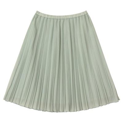 イージープリーツスカート 婦人L・ペールグリーン
