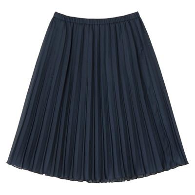 イージープリーツスカート 婦人L・ネイビー