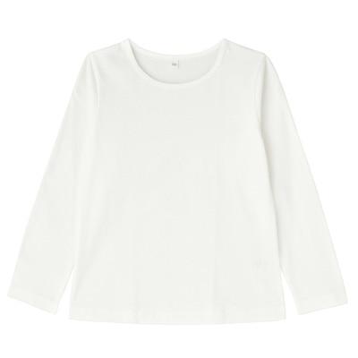 毎日のこども服女児長袖Tシャツ キッズ140・オフ白