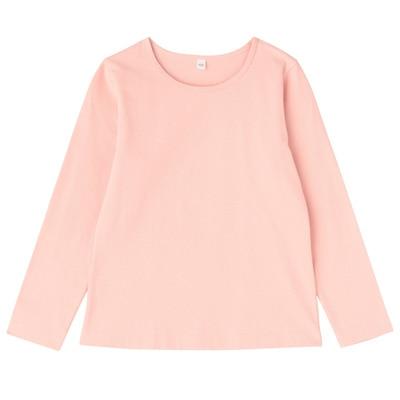 毎日のこども服女児長袖Tシャツ キッズ120・ライトピンク