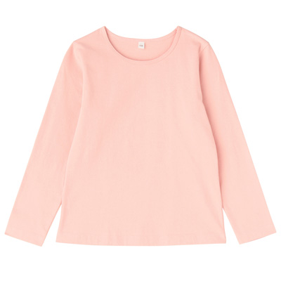 毎日のこども服女児長袖Tシャツ キッズ140・ライトピンク