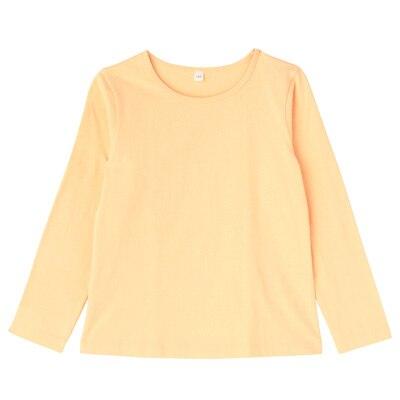毎日のこども服女児長袖Tシャツ キッズ110・ペールピーチ