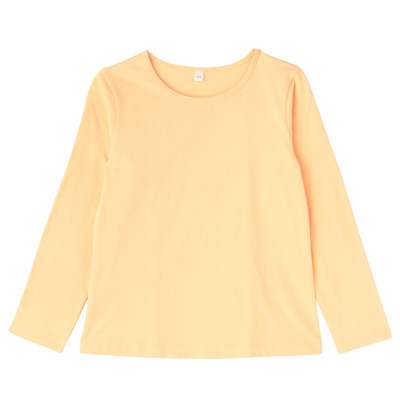 毎日のこども服女児長袖Tシャツ キッズ140・ペールピーチ