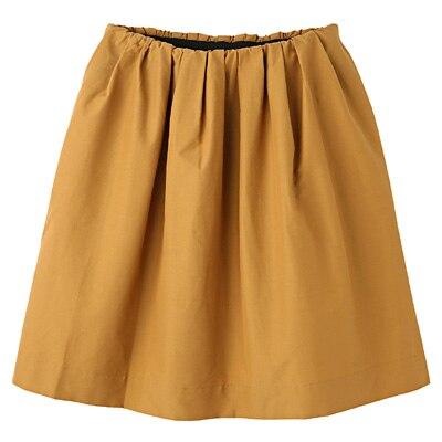 コットンナイロンイージーギャザースカート 婦人S・ベージュ