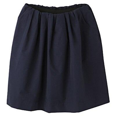 コットンナイロンイージーギャザースカート 婦人S・ネイビー