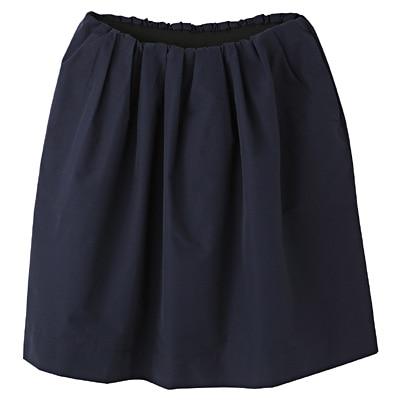 コットンナイロンイージーギャザースカート 婦人L・ネイビー