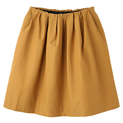 コットンナイロンイージーギャザースカート 婦人L・ベージュ