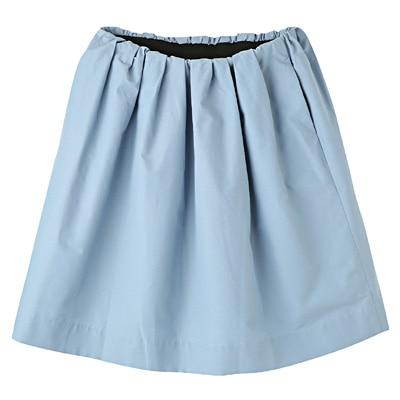 コットンナイロンイージーギャザースカート 婦人L・ライトブルー