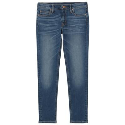 オーガニックコットン混デニムスーパーストレッチスキニー アンクル丈 婦人26(66cm)・ブルー