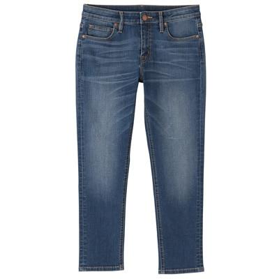 オーガニックコットン混デニムスーパーストレッチスキニークロップド丈 婦人26(66cm)・ブルー
