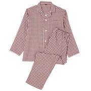 Dbl Gauze L/s Pajama Drk Red Chk S
