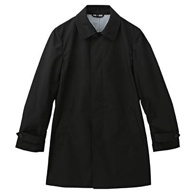 透湿撥水加工ステンカラーコート 紳士S・黒