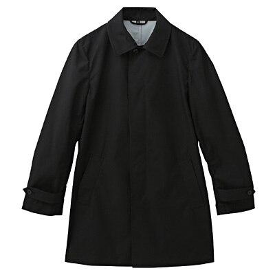 透湿撥水加工ステンカラーコート 紳士XL・黒