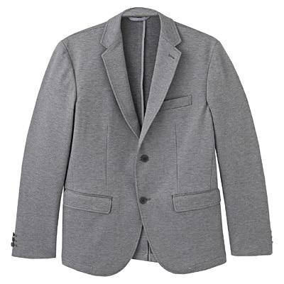 ダブルジャージージャケット 紳士S・グレー