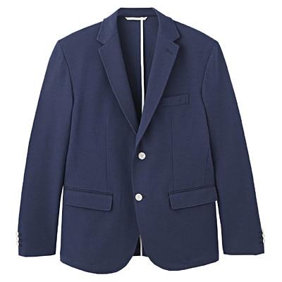 ダブルジャージージャケット 紳士L・ブルー