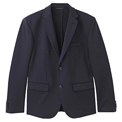 ダブルジャージージャケット 紳士L・ネイビー