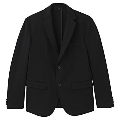ダブルジャージージャケット 紳士XL・黒