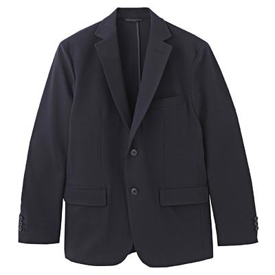 ダブルジャージーツイルジャケット 紳士L・ネイビー