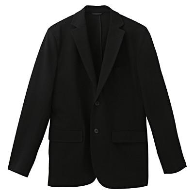 ダブルジャージーツイルジャケット 紳士S・黒