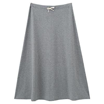 綿レーヨンストレッチロングスカート 婦人S・グレー
