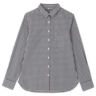 オーガニックコットンギンガムシャツ 婦人XL・黒