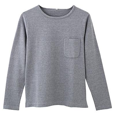 オーガニックコットン天竺ボートネックTシャツ 紳士L・ライトブルー
