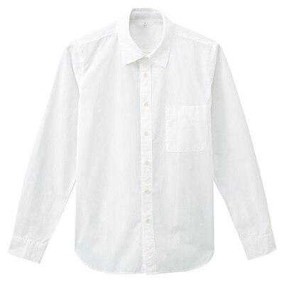 オーガニックコットンブロードシャツ 紳士S・オフ白