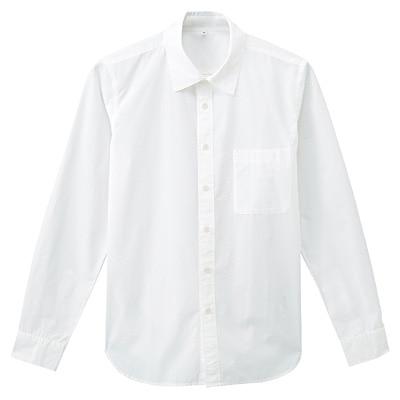 オーガニックコットンブロードシャツ 紳士L・オフ白